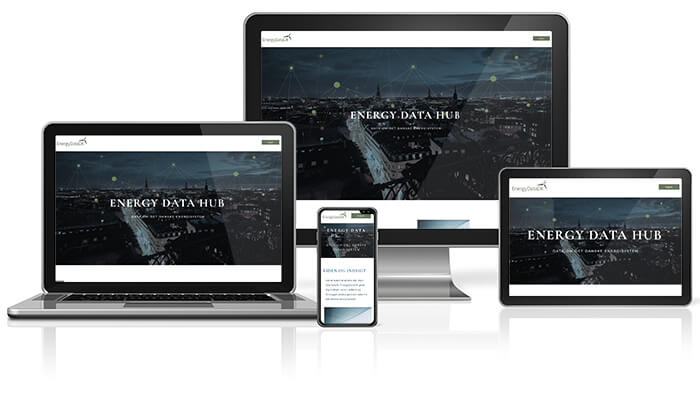 Responsive design af hjemmeside - Energydata.dk