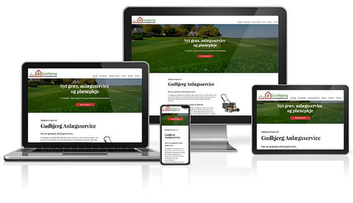 Gudbjerg Anlægsservice responsive website